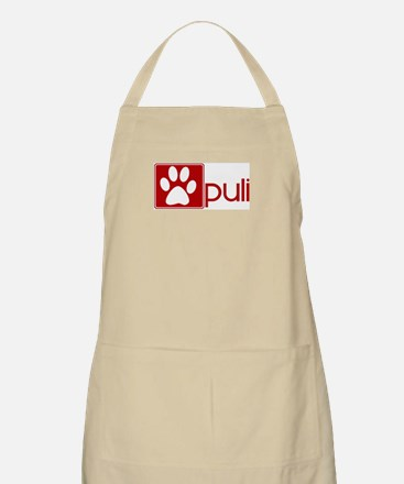 Puli (dog paw red) BBQ Apron