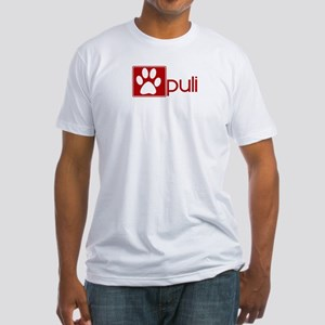 Puli (dog paw red) Fitted T-Shirt