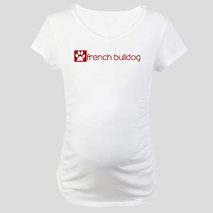 French Bulldog (dog paw red) Maternity T-Shirt
