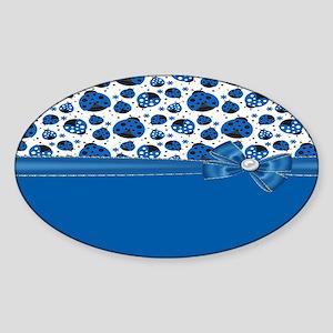 Stylish Blue Ladybugs Sticker