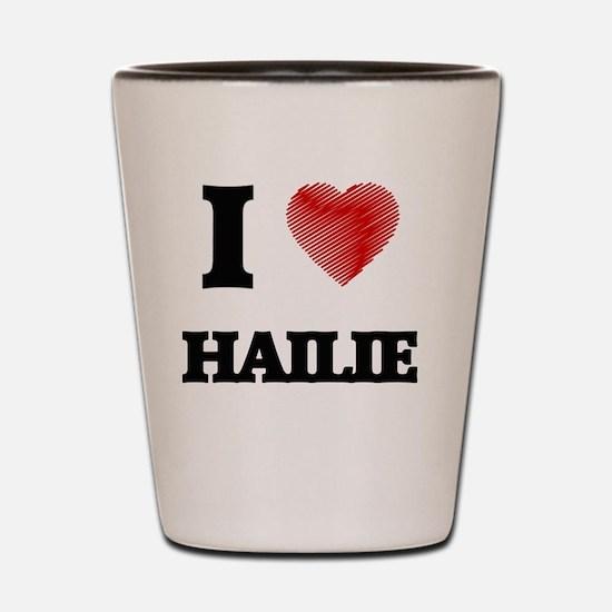 Funny Hailie Shot Glass