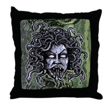 Head of Medusa Throw Pillow