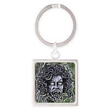 Head of Medusa Square Keychain
