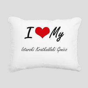 I Love My Istarski Kratk Rectangular Canvas Pillow