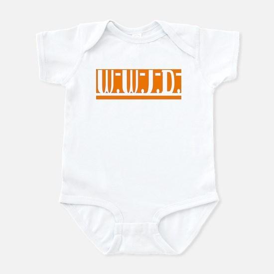 Orange WWJD Infant Bodysuit