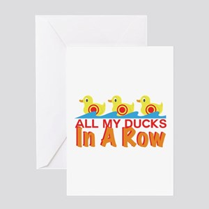 Ducks In A Row Greeting Cards