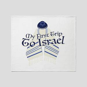 Trip To Israel Throw Blanket
