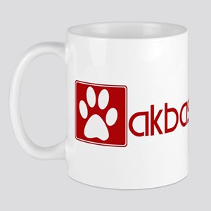 Akbash Dog (dog paw red) Mug