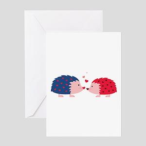 Hedgehog Love Greeting Cards