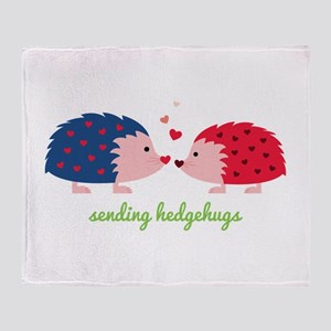 Sending Hedgehugs Throw Blanket