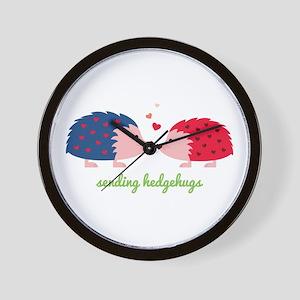 Sending Hedgehugs Wall Clock