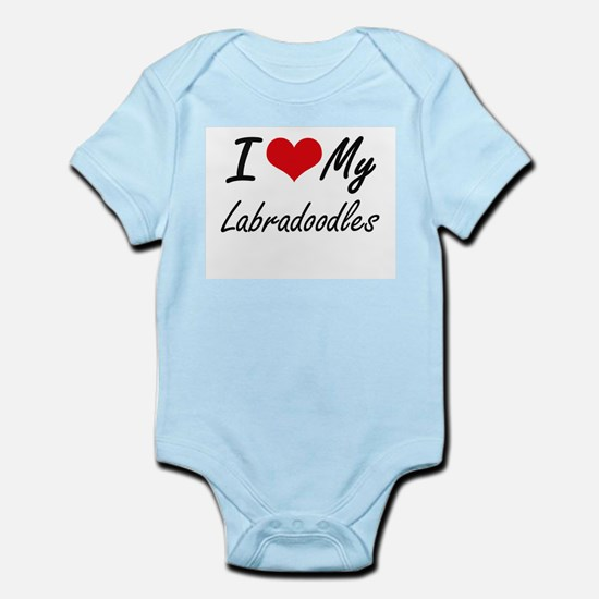 I Love My Labradoodles Body Suit