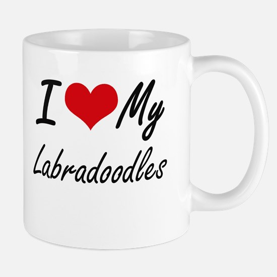 I Love My Labradoodles Mugs