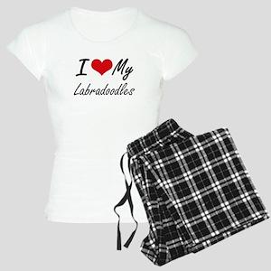 I Love My Labradoodles Women's Light Pajamas