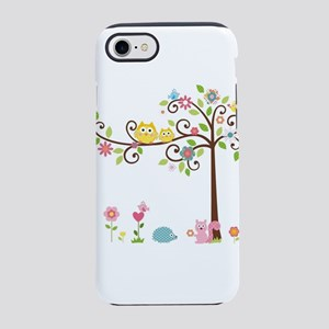 Owl family tree iPhone 8/7 Tough Case