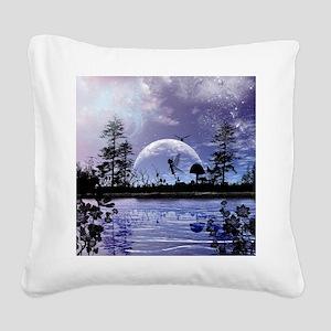Cute fairy Square Canvas Pillow