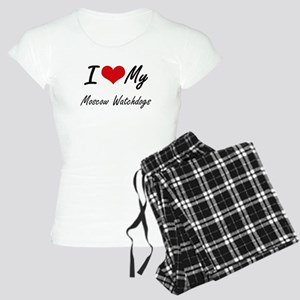 I Love My Moscow Watchdogs Women's Light Pajamas