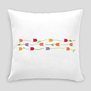 Tulip Border Everyday Pillow