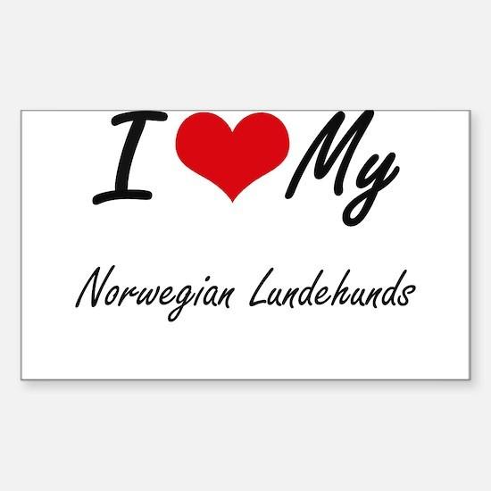 I Love My Norwegian Lundehunds Decal