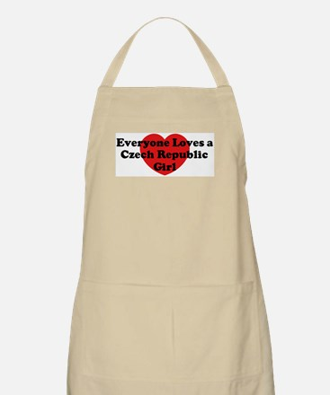 Czech Republic girl BBQ Apron