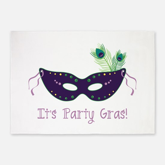 Its Party Gras 5'x7'Area Rug