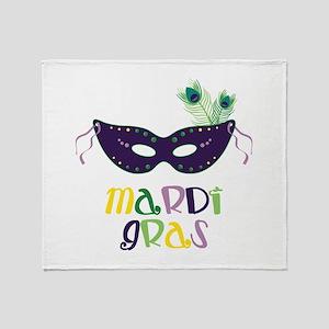 Mardi Gras Throw Blanket
