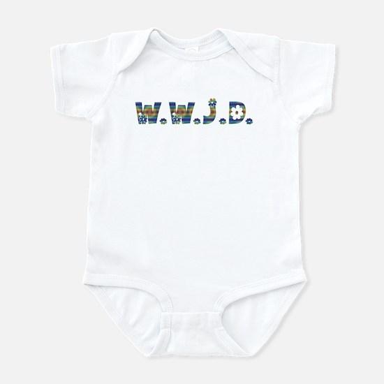 Tiedye Hippie WWJD Infant Bodysuit