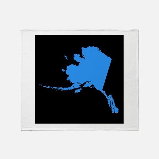 alaska blue black Throw Blanket