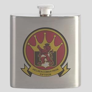 HSC 15 Lions Crest Flask