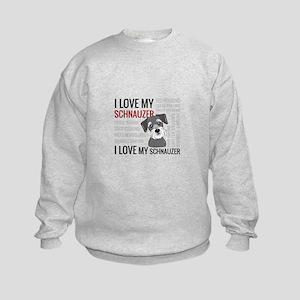 I love my schnauzer Kids Sweatshirt