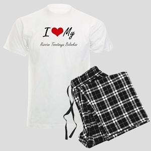 I Love My Russian Tsvetnaya B Men's Light Pajamas
