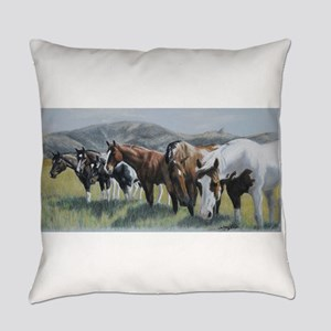 Pretty Horses All In A Row Everyday Pillow