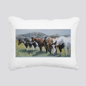 Pretty Horses all in a row Rectangular Canvas Pill