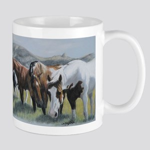 Pretty Horses all in a row Mugs