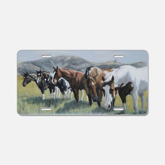 Pretty Horses all in a row Aluminum License Plate