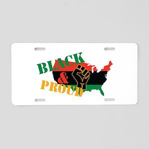 Black & Proud Aluminum License Plate