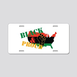 Black & Proud Aluminum License Plate