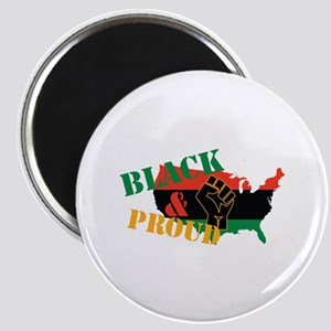 Black & Proud Magnets