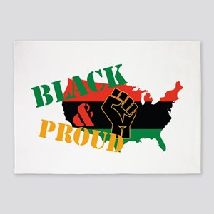 Black & Proud 5'x7'Area Rug