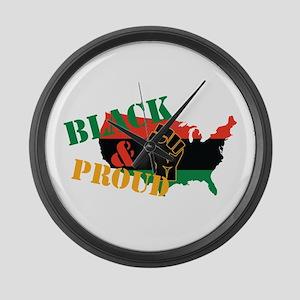 Black & Proud Large Wall Clock