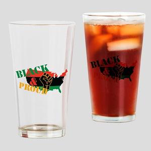 Black & Proud Drinking Glass