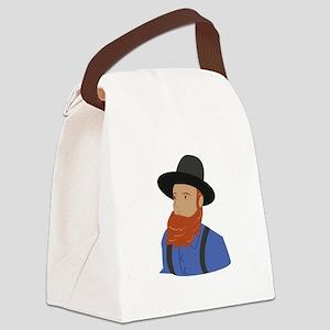 Amish Man Canvas Lunch Bag