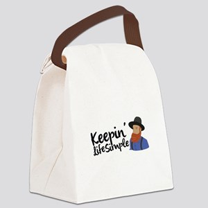Keepin Life Simple Canvas Lunch Bag