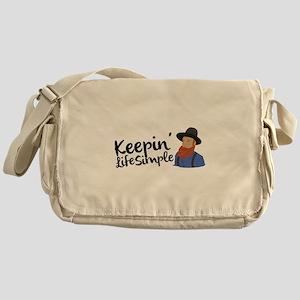 Keepin Life Simple Messenger Bag