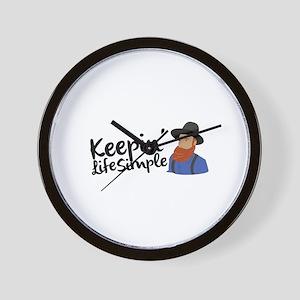 Keepin Life Simple Wall Clock