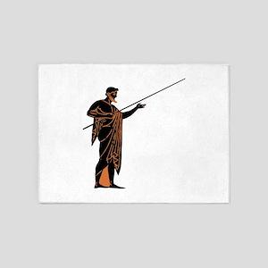 Greek Warrior 5'x7'Area Rug