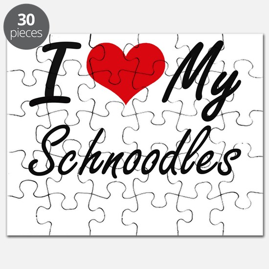 I Love My Schnoodles Puzzle
