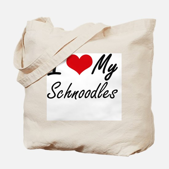 I Love My Schnoodles Tote Bag