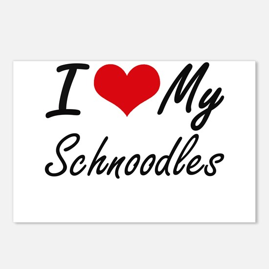 I Love My Schnoodles Postcards (Package of 8)