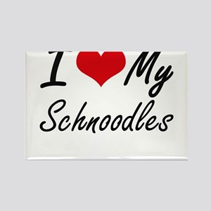 I Love My Schnoodles Magnets